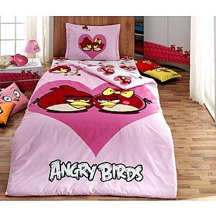 КПБ Детский Ранфорс VS Angry birds дизайн 04 (1.5 спальный)