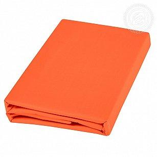 Пододеяльник сатин, оранжевый