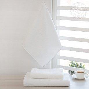 Полотенце махровое отбеленное, белый