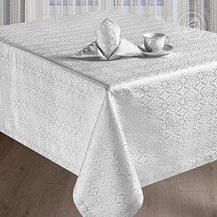 """Скатерть с салфетками """"Марго"""", прямоугольная, белый, 120*150 см-A"""