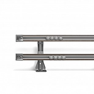 Карниз профильный алюминиевый, 2-рядный, графит