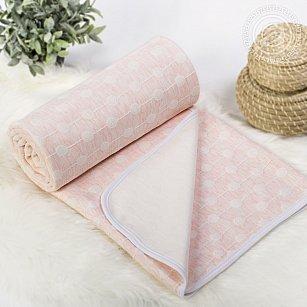"""Одеяло-покрывало трикотажное """"Ожерелье розовое"""""""
