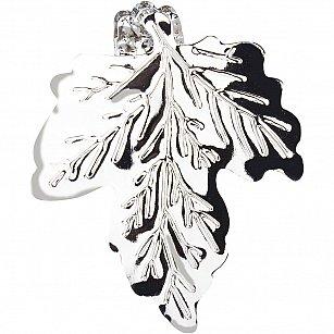 """Держатель-клипса для штор """"Листочек"""", дизайн 117.581, хром"""