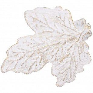 """Держатель-клипса для штор """"Листочек"""", дизайн 117.601, белое золото ампир"""