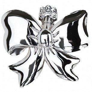 """Держатель-клипса для штор """"Бант"""", дизайн 125.581, хром"""