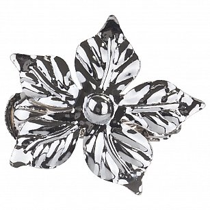"""Держатель-клипса для штор """"Цветок"""", дизайн 127.581, хром"""