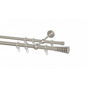 Карниз металлический Arttex с наконечником №104, 2-рядный, сталь, ø 20 мм, ø 16 мм