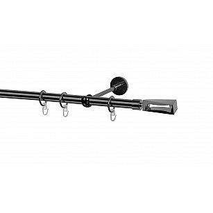 Карниз металлический Arttex с наконечником №395, 1-рядный, оникс, ø 20 мм