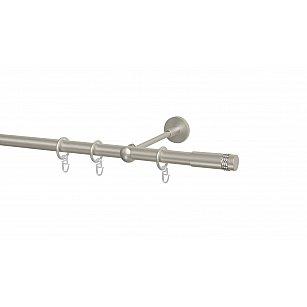 Карниз металлический Arttex с наконечником №49, 1-рядный, сталь, ø 20 мм