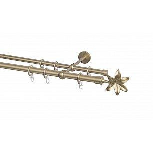 Карниз металлический Arttex с наконечником №87, 2-рядный, бронза, ø 20 мм, ø 16 мм