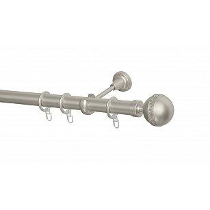 Карниз металлический Arttex с наконечником №249, 1-рядный, сталь, ø 28 мм