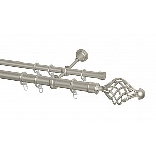 Карниз металлический Arttex с наконечником №250, 2-рядный, сталь, ø 28 мм, ø 20 мм