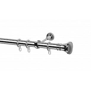 Карниз металлический Arttex с наконечником №251, 1-рядный, хром, ø 28 мм