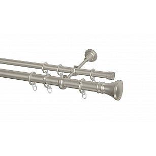 Карниз металлический Arttex с наконечником №251, 2-рядный, сталь, ø 28 мм, ø 20 мм