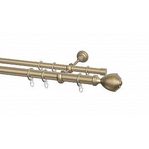 Карниз металлический Arttex с наконечником №252, 2-рядный, бронза, ø 28 мм, ø 20 мм