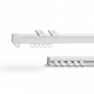 Карниз профильный пластиковый, 1-рядный, белый, 160 см