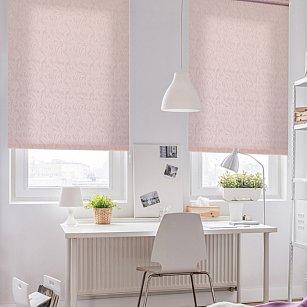 """Рулонная штора ролло """"Волнистые узоры"""", розовый, 40 см"""