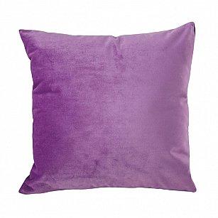 Подушка ручной работы Бархат Arya, сиреневый, 50*50 см
