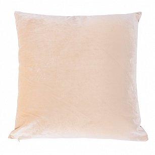 Подушка ручной работы Бархат Arya, ванильный, 50*50 см