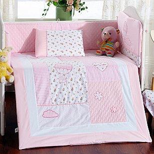 КПБ детское Arya Honey (Новорожденный), розовый