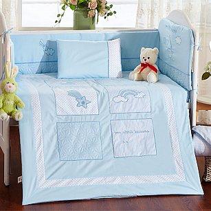 КПБ детское Arya Little Salor (Новорожденный), голубой