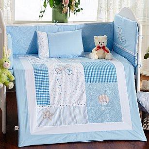 КПБ детское Arya Little Star (Новорожденный), голубой