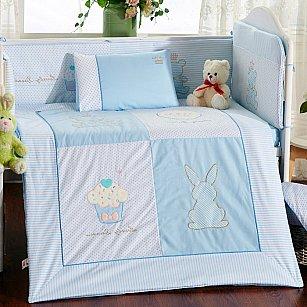 КПБ детское Arya Rabbit (Новорожденный), голубой