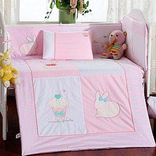 КПБ детское Arya Rabbit (Новорожденный), розовый