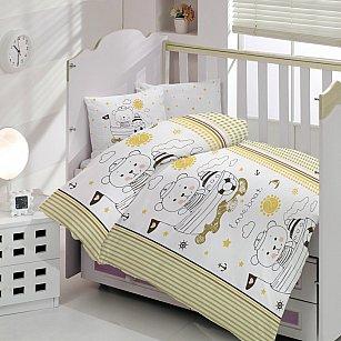 КПБ детское Arya Ранфорс Teddy (Новорожденный), коричневый