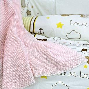 Плед детский вязаный Arya Ginger, розовый, 90*90 см