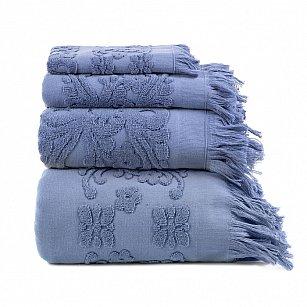 Полотенце с бахромой Arya Isabel Soft, голубой
