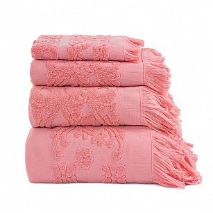 Полотенце с бахромой Arya Isabel Soft, коралловый