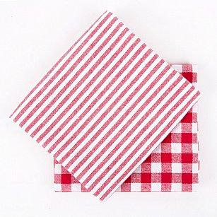 Набор кухонных полотенец Arya Kitchen Line Kusumi, красный, 45*70 см - 2 шт