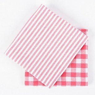 Набор кухонных полотенец Arya Kitchen Line Kusumi, розовый, 45*70 см - 2 шт