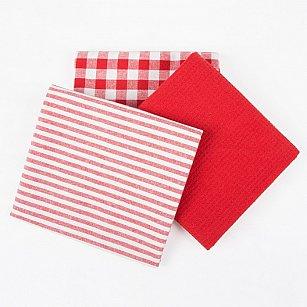 Набор кухонных полотенец Arya Kitchen Line Sweety, красный, 45*70 см - 3 шт