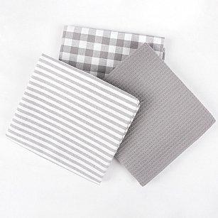 Набор кухонных полотенец Arya Kitchen Line Sweety, серый, 45*70 см - 3 шт