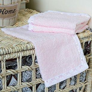 Набор полотенец Arya Lace, розовый, 30*30 см - 3 шт