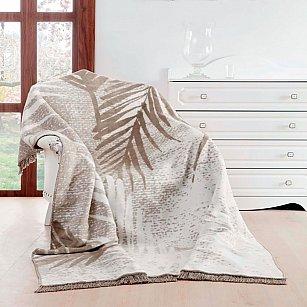 Плед хлопок Arya Oreo, бежево-серый