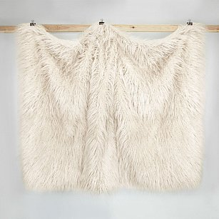 Плед искусственный мех Arya Vivense, бежевый, 130*170 см
