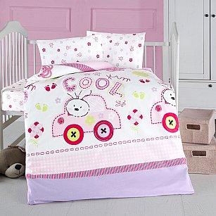 КПБ детское Arya ранфорс Coll Baby (Новорожденный), розовый