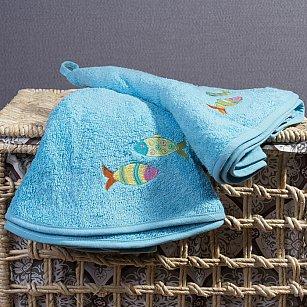 Полотенце кухонное Arya Wanda, аква, 70*70 см