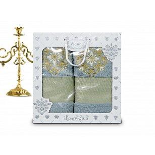 Комплект махровых полотенец Vianna Luxury Series дизайн 03 (50*90; 70*140)