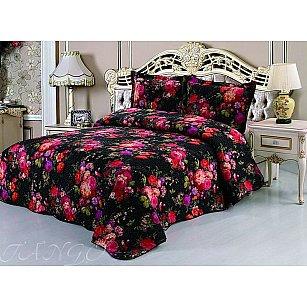 Покрывало ТАНГО MОМА, черный, розовый, 230*250 см