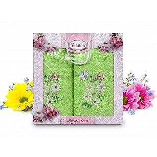 Комплект махровых полотенец Vianna Luxury Series дизайн 09 (50*90; 70*140)