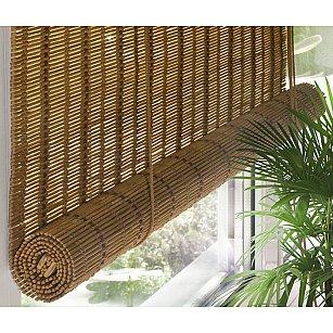 Бамбуковая рулонная штора, медь, 160 см