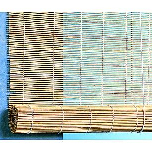 Бамбуковая рулонная штора, натур, 60 см