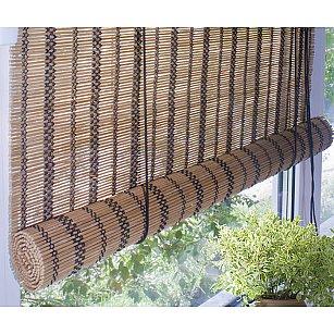 Бамбуковая рулонная штора, охра
