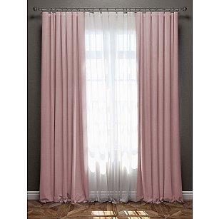 """Комплект штор с подхватами """"Блэкаут"""", розовый, 170*270 см"""