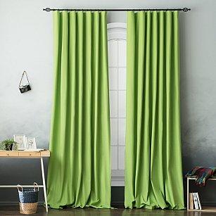 Комплект штор БИЛЛИ, зеленый