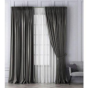Комплект штор Шанти, серый